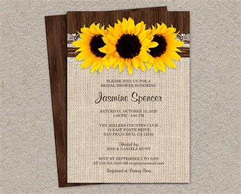 diy country bridal shower invitations rustic country sunflower bridal shower invitations diy