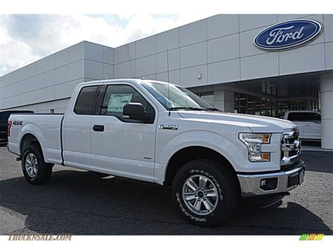 ford truck white 2016 ford f150 xlt supercab 4x4 in oxford white c12002