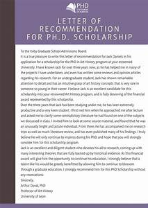 Write A Winning Recommendation Letter For Phd With Us