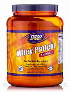 Now U00ae Sports - Whey Protein  Strawberry Flavor