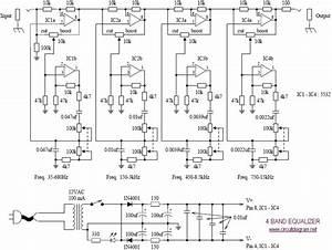 U0026gt  Circuits  U0026gt  4 Band Equalizer Schematic Diagram L24455