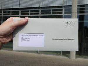 muster für wände wahlbenachrichtigung brief statt karte