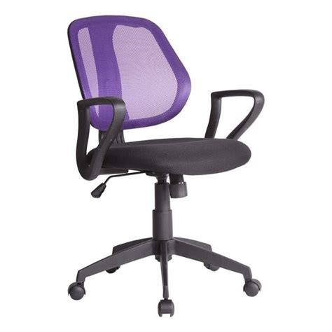 chaise de bureau hello chaise de bureau dossier violet biba id 39 clik achat