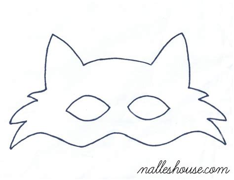 fox mask template fox mask mask  kids mask template