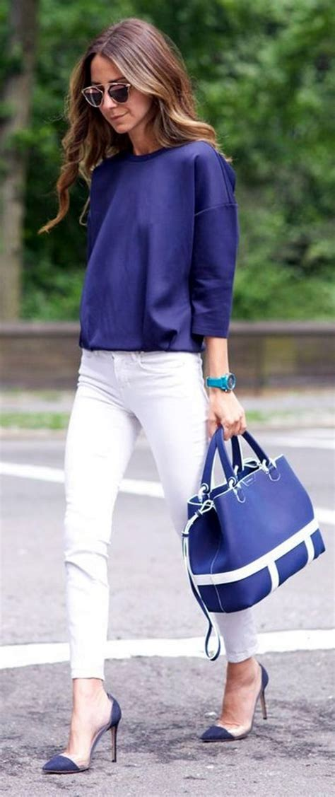 30 White Pant Styles to Pop up Your Pre-fall Looks - Pretty Designs