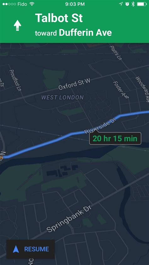 google maps app  night mode ability  label places
