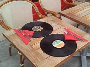 Set De Table Vinyl : id es cr atives de sets de table avec de la r cup 39 astuces bricolage ~ Teatrodelosmanantiales.com Idées de Décoration