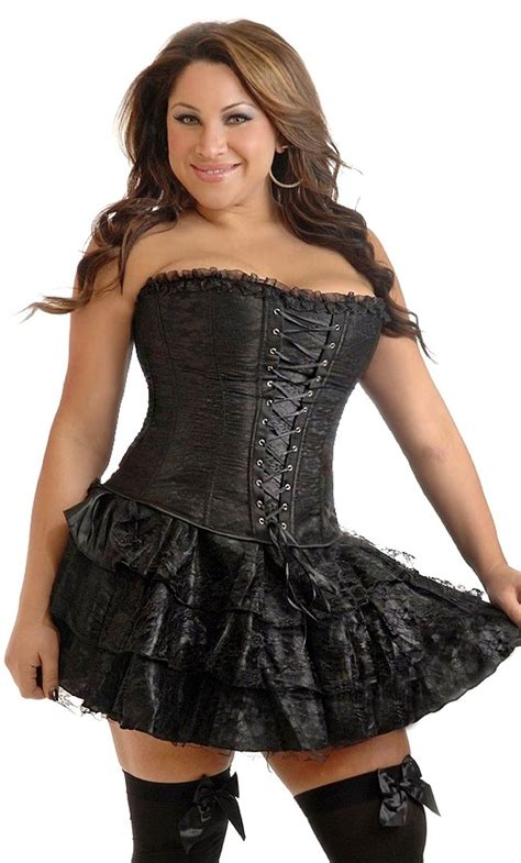 corset si鑒e plus size black lace corset dress spicylegs com