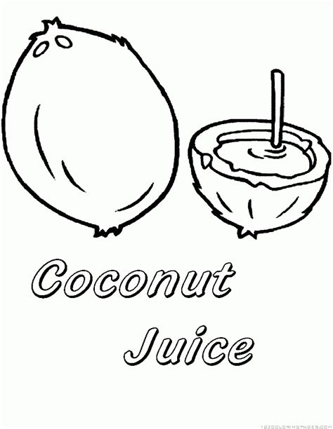 coloring coconut coconut coloring printable coloring pages