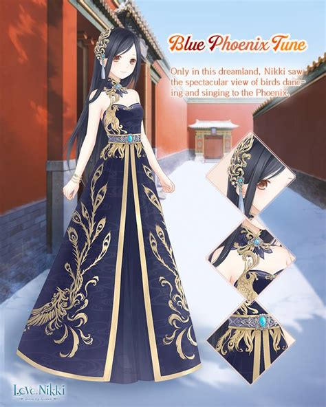 blue phoenix tune love nikki dress  queen wiki fandom