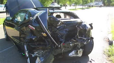 ouch brand  chevy camaro ss  totaled  teen