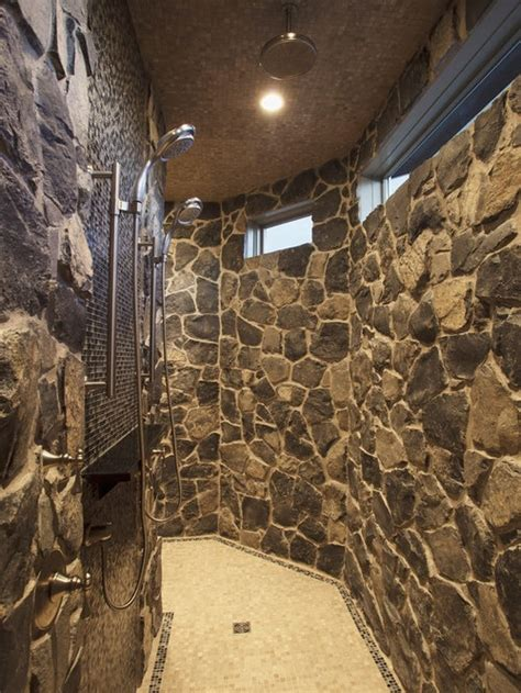 stone showers ideas pictures remodel  decor