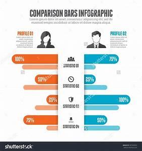 Comparison Bars Infographic Design Element