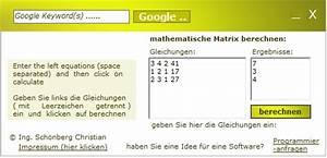 Matrizen Berechnen : schoenberg mathematische matrix mit unbekannten variablen berechnen think mini ~ Themetempest.com Abrechnung