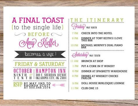 hen party itinerary midway media