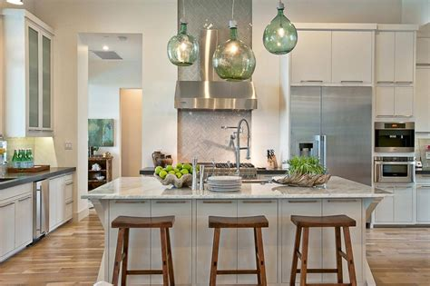 green kitchen pendant lights