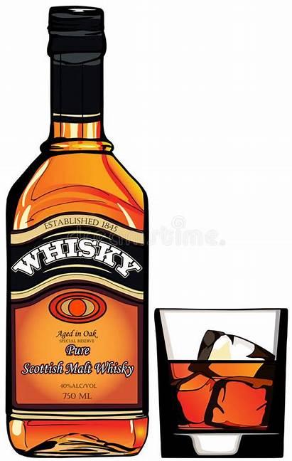 Whisky Bottle Illustration Vector
