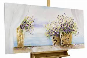 Blumen Für Fensterbank : bild blumen gelb wei als gem lde kaufen kunstloft ~ Markanthonyermac.com Haus und Dekorationen