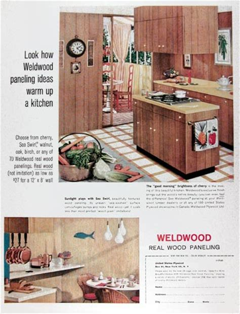 ad  wood paneling vintage home decor ad