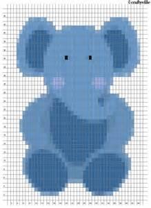 Intarsia Knitting Elephant Chart