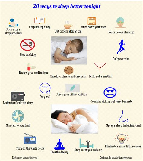 Infographic 20 Ways To Sleep Better Tonight
