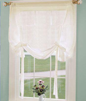 semi sheer tie  curtain   simple farmhouse