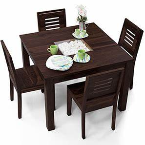 Buy 4 Seater Wooden Dining Sets Online in India - Urban Ladder