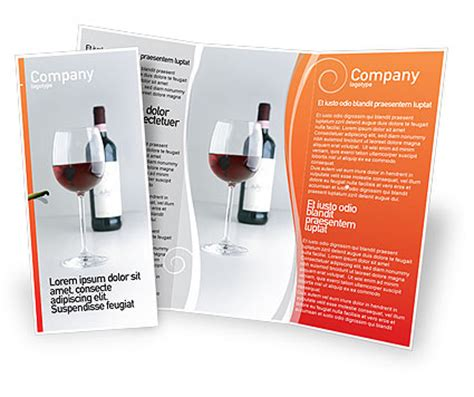 Wine Brochure Template Free by Bottle Of Wine Brochure Template Design And Layout