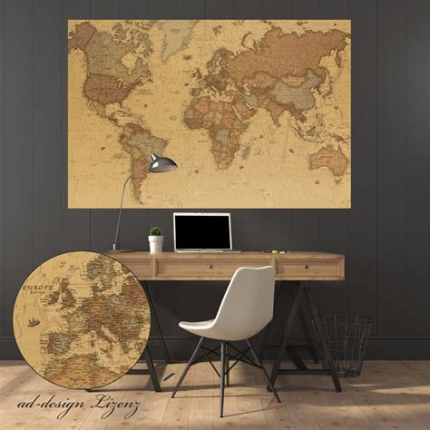 Wand Poster Selbstklebend by Weltkarte Als Aufkleber Oder Poster Selbstklebend