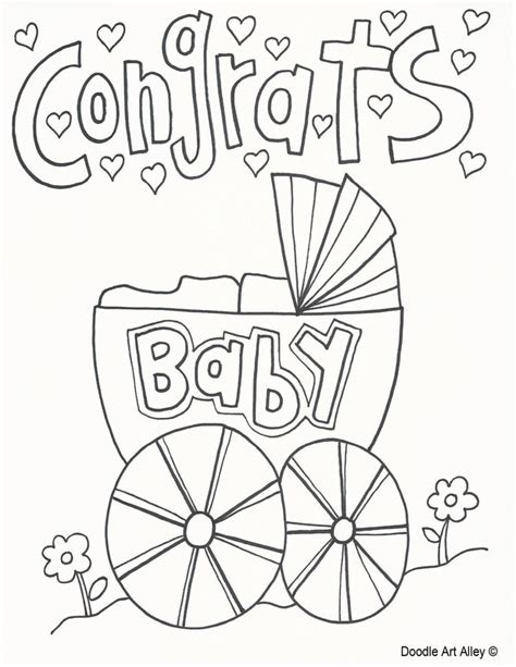 celebration coloring pages doodle art alley