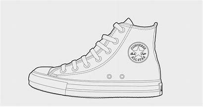 Converse Coloring Shoe Drawing Shoes Sneaker Sisters