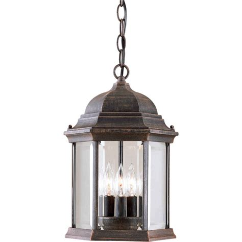lowes hanging lights shop 15 in h painted rust outdoor pendant light at lowes