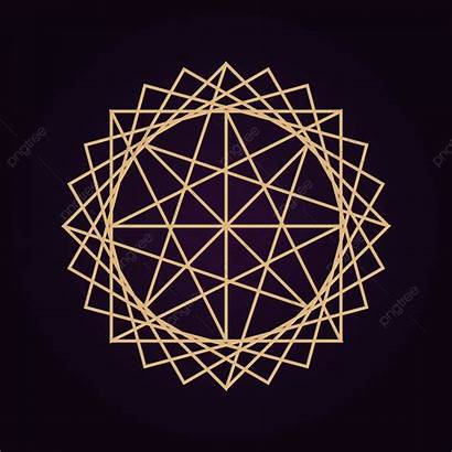 Sacred Geometry Mandala Dark Abstract Isolated Pack