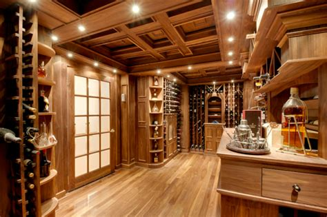 Inside Home Bar by Wine Cellar Houses A Home Bar In Woodworking