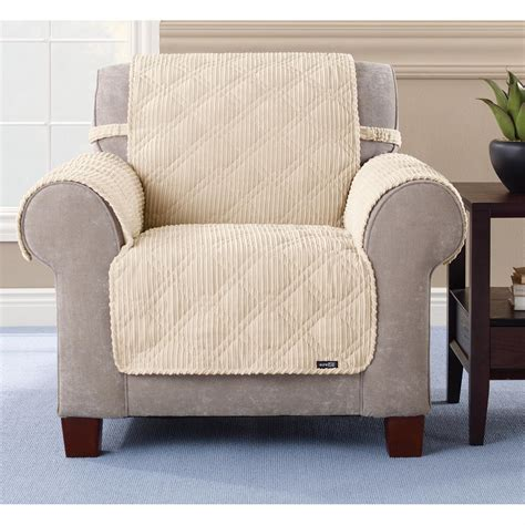 sure fit furniture covers sure fit quilted corduroy chair pet cover 292844