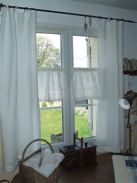 rideaux realises avec  drap de lin ancien photo de mes