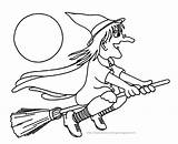 Coloring Pages Halloween Witches sketch template