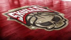 Basketball Court Logo Mockup On Pantone Canvas Gallery