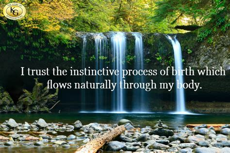 trust  instinctive process  birth  flows