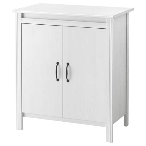 Brusali Cabinet With Doors White 80 X 93 Cm Ikea