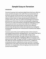 What Is Thesis In An Essay  Topics For Proposal Essays also Essay Topics For Research Paper Terrorism Essay In English Pdf Graduating High School Essay