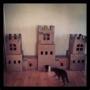 cat castle the creation of the cardboard cat castle catnipandcupcakes