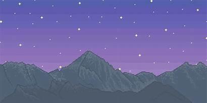 Pixel Mountain Scenery Range Town Bubaigawara Surrounds