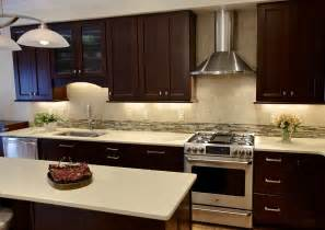 cherry cabinets with quartz countertops waypoint cabinets with a cherry bordeaux finish and