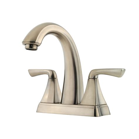 lowes kitchen sink faucets shop pfister selia brushed nickel 2 handle 4 in centerset
