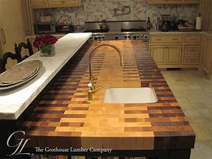 Butcher Block Countertop with an Interlocked Pattern