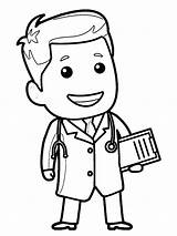 Doctor Coloring Nurse Clipart Pages Drawing Wecoloringpage Printable Professions Clip Coloringhome sketch template
