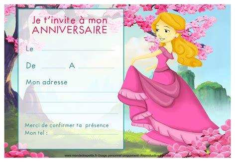 Carte Anniversaire Fille by Invitation Anniversaire Fille Gratuite Invitation