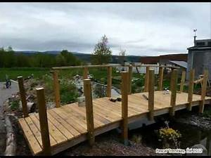 Pont En Bois Pour Jardin : construire un pont de jardin et am nager un ruisseau de jardin youtube ~ Nature-et-papiers.com Idées de Décoration