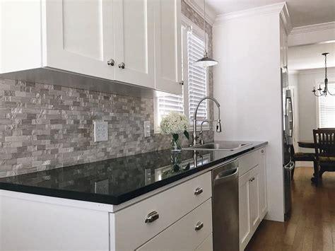 white cabinets with black granite kitchen ideas white cabinets black granite